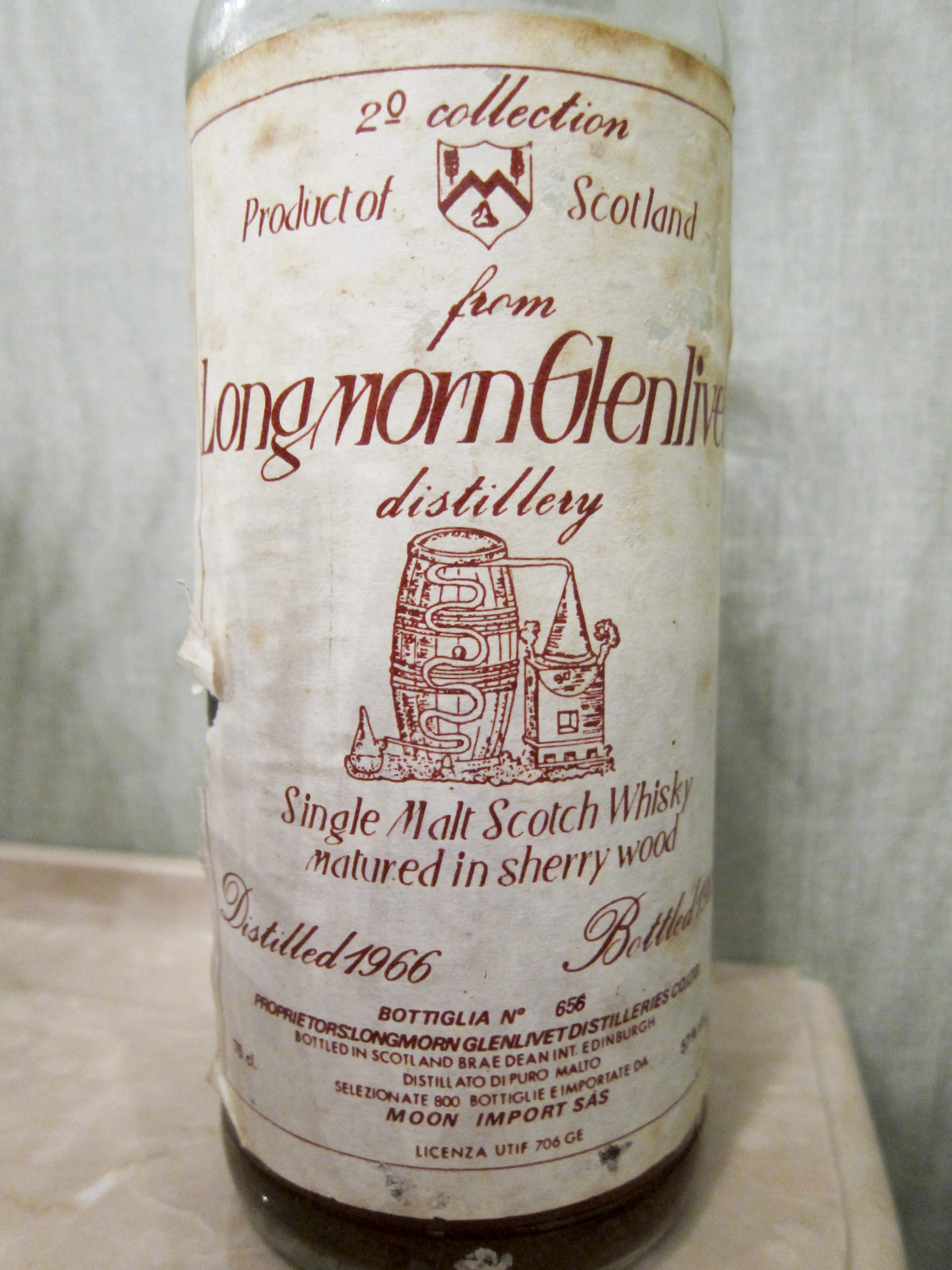 【BL/SC】ロングモーン Longmorn 19yo 1966/1985 (57%, Moon Import 2nd Collection, 800 Bts, 75cl)