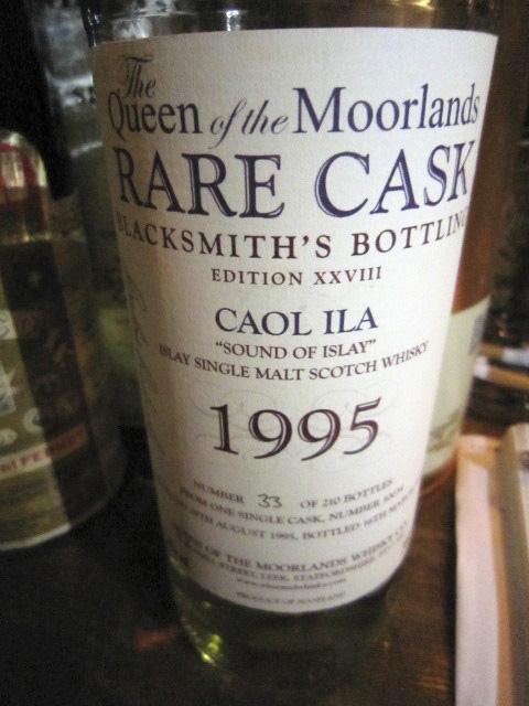 """カリラ Caol ila 1995 Rare Cask Caol Ila Edition XXVIII """"Blacksmith's Bottling"""" 51.6% ボトルナンバー33/210 70CL"""