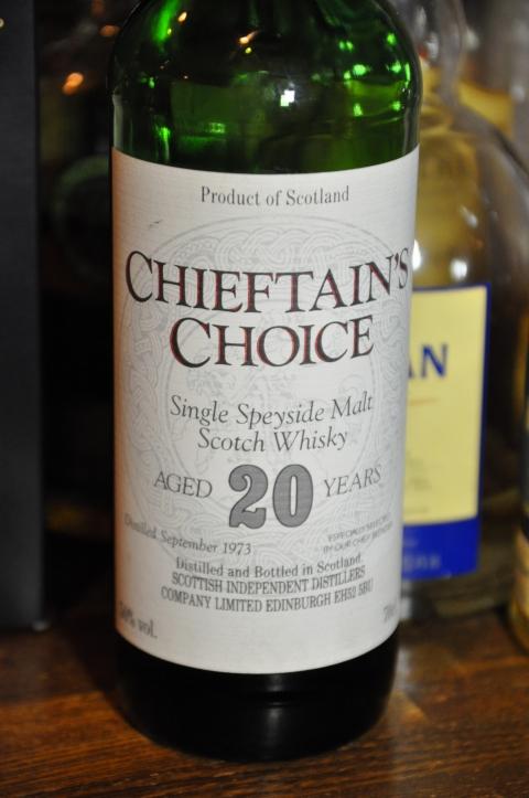 クラガンモア Cragganmore 20yo 1973 (50%, Chieftain's Choise<Scotish Independent Distillers Co.>, Single Speyside Scotch Whisky, 70CL)