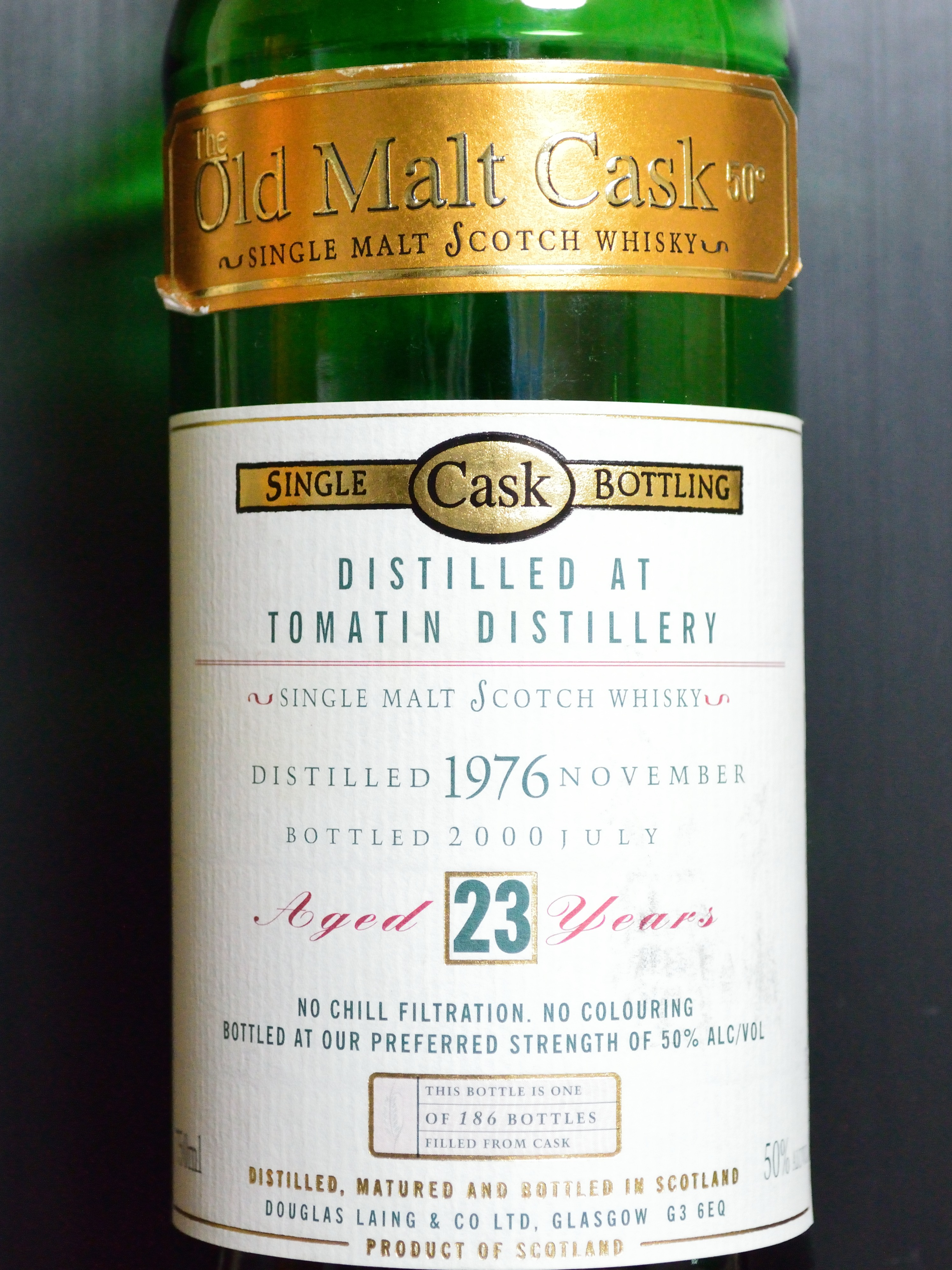 トマーチン Tomatin 1976/2000 23yo (50% DL/OMC green bottle) 北米向け