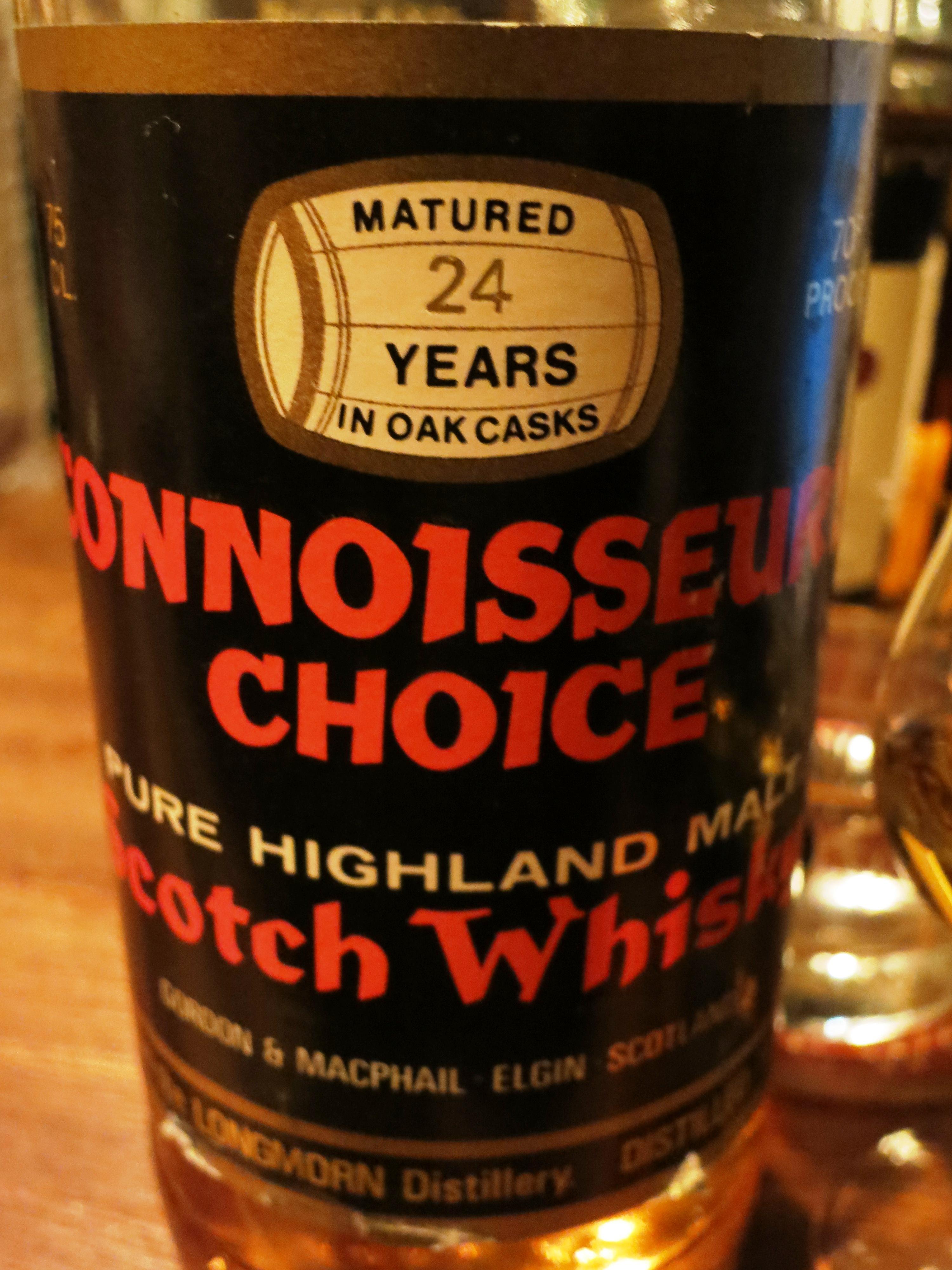 ロングモーン Longmorn 1955 24yo (70 proof , Gordon & MacPhail, Connoisseur's Choice)