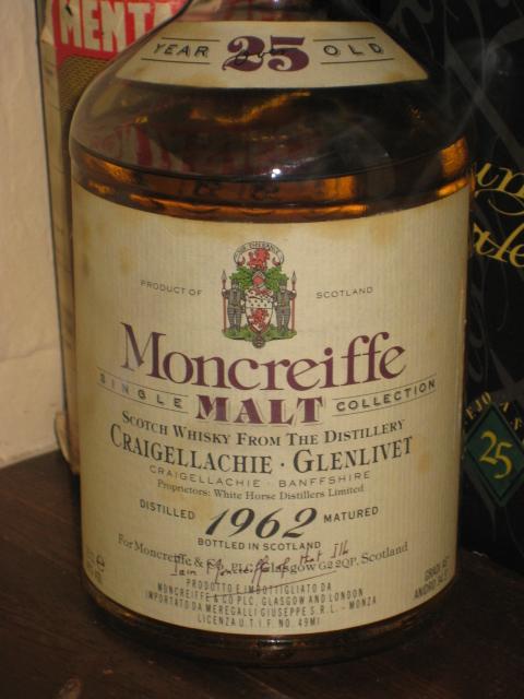 クレイゲラヒ CRAIGELLACHIE GLENLIVET 1962 25y Moncreiffe SINGLEMALT COLLECTION 46%