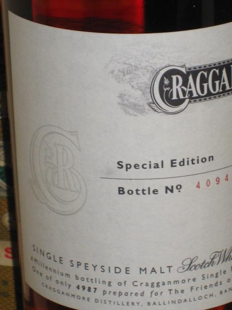 クラガンモア Cragganmore  スペシャルエディション 14yo  (47.5%, OB) 4987本限定 ボトルナンバー4094 70CL