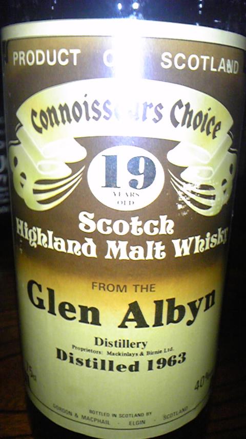 グレンアルビン Glen Albyn 19yo 1963 (40%, G&M Connoisseurs Choice, Brown)  75CL