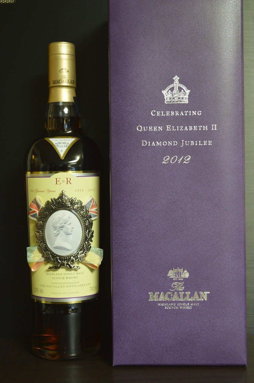 """マッカラン Macallan (52%, OB, """"The Queen's Diamond Jubilee"""", 2012)"""