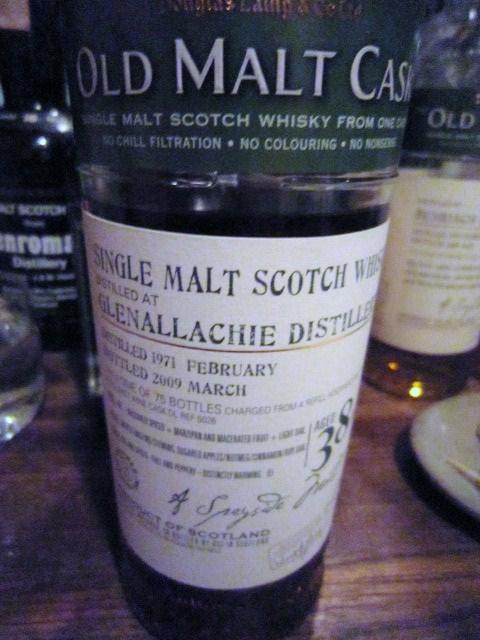 グレンアラヒ GLENALLACHIE 39yo 1971/2009 (50% ダグラスレインOMC)