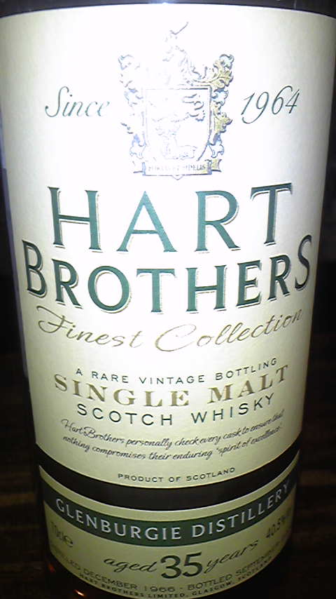 グレンバーギ  Glenburgie 35y 1966-2002 40.5%, Hart Brothers