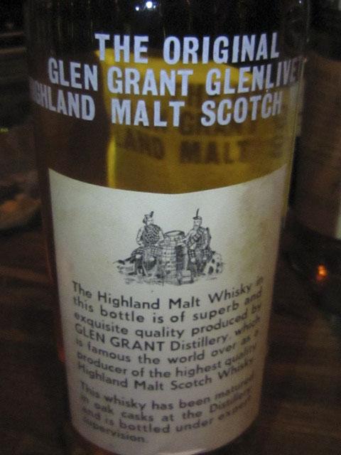 グレングラント Glen Grant 25yo (70 proof, G&M, 1970's) スクリューキャップ 26 2/3 FL. OZS.