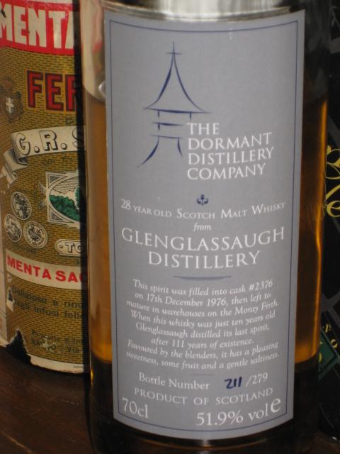 グレングラッソー  Glenglassaugh 28yo 1976 (51.9%, Dormant Distillery C., C#2376, 279 Bts.)