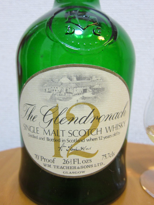 グレンドロナック The Glendronach 12yo(70 proof, green Dumpy, late 70′s,) 1970年代流通