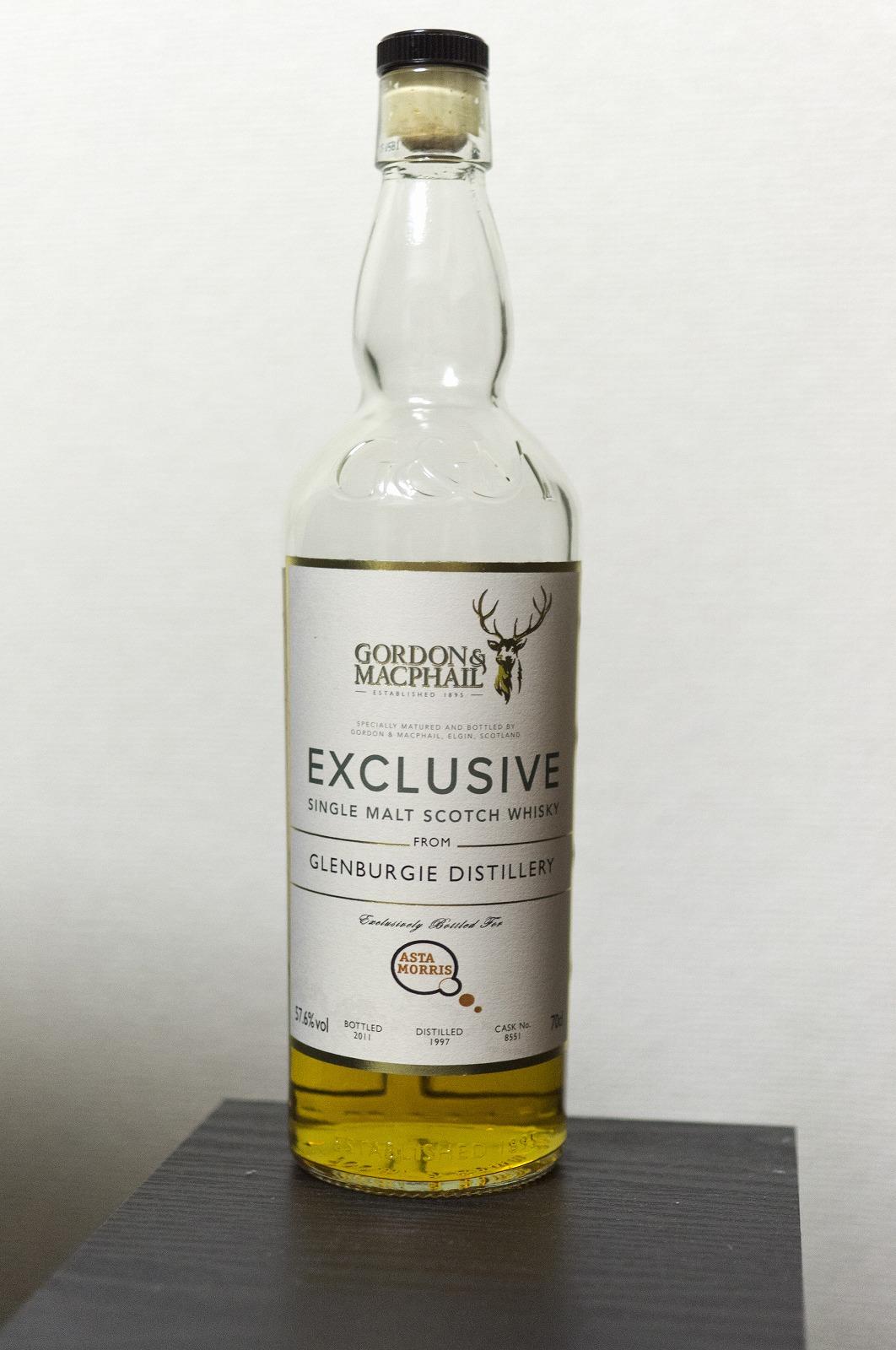 グレンバーギ Glenburgie 1997 (57.6%, Gordon & MacPhail, for Asta Morris, bourbon cask, Cask#8551, 212 btls.)
