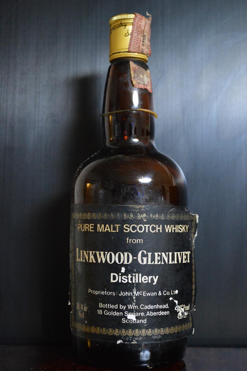 リンクウッド Linkwood-Glenlivet 1956/1979 (80proof, 26 2/3 FL.Oz. Cadenhead Black dumpy bottle, 75CL)
