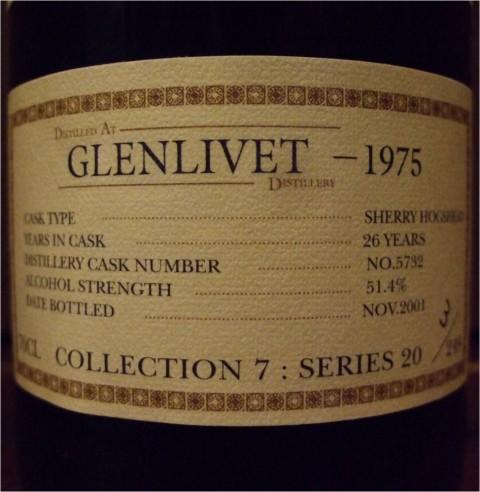 グレンリベット GLENLIVET 1975-2001 26yo THE SINGLE CASK COLLECTION #5732 51.4%