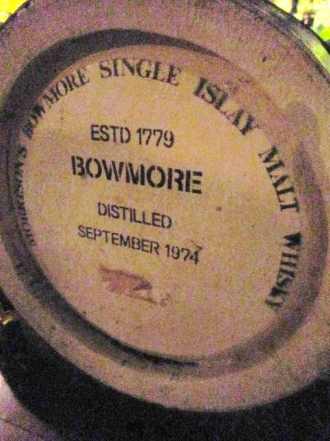 ボウモア 1974 ハウスカスク モリソンボウモア表記
