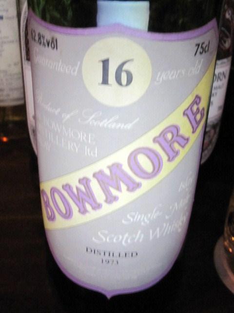 ボウモア Bowmore 16y 1973 (62.8%, Sestante Import Gray Crest Label)